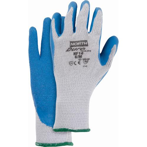 gant latex bleu enduit double poly coton moyen moyen protection incendie cfs. Black Bedroom Furniture Sets. Home Design Ideas